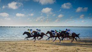 Sanlucar horse racing on the beach.